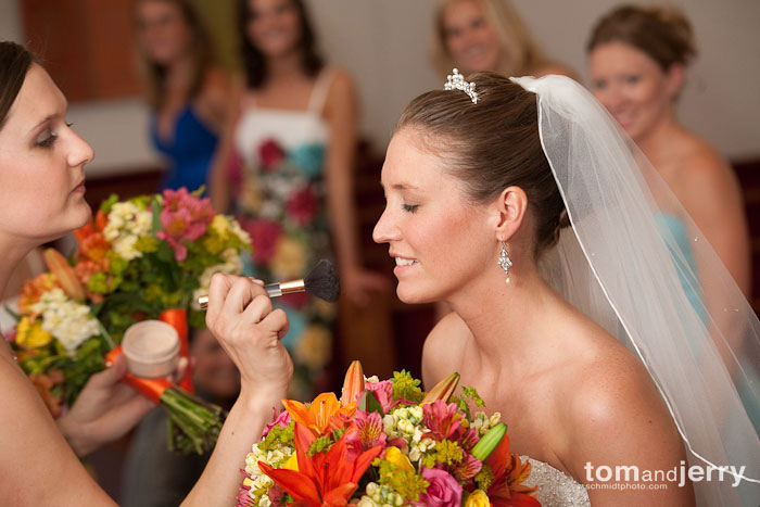 Bride getting ready, Tom and Jerry, Plaza KC