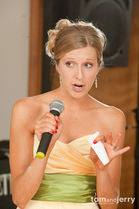 Tom and Jerry Wedding Photography, Bridesmaid toast