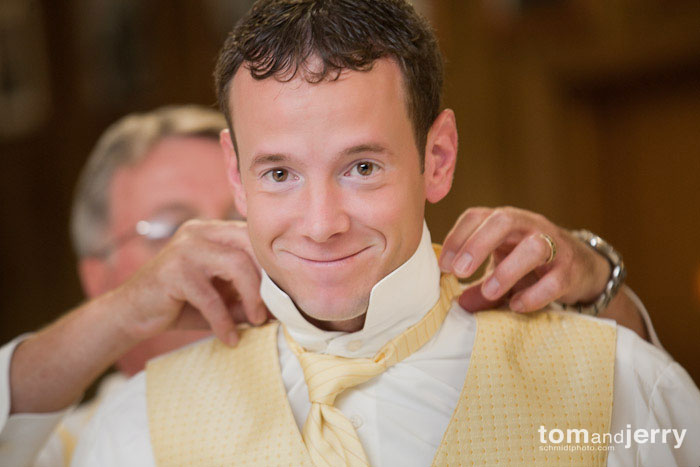 Tom and Jerry Wedding Photography, Groom and father