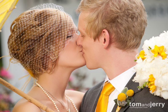 Tom and Jerry Wedding Photography - Kansas City First Kiss
