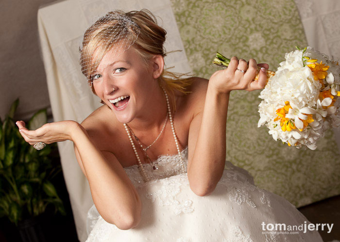 Tom and Jerry Wedding Photography - Kansas City Cute Bride Smiling